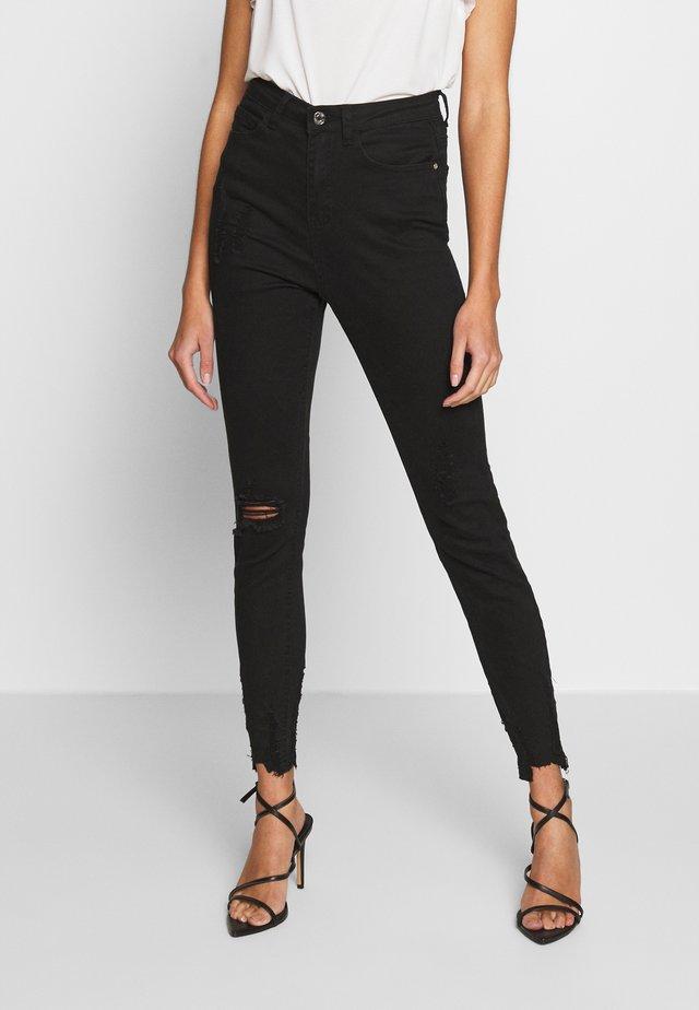 SINNER HIGHWAISTED DESTROYED - Jeans Skinny - black