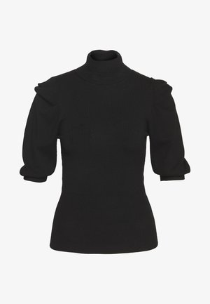 MAGLIA CHIUSA DOLCEVITA - T-shirt imprimé - black