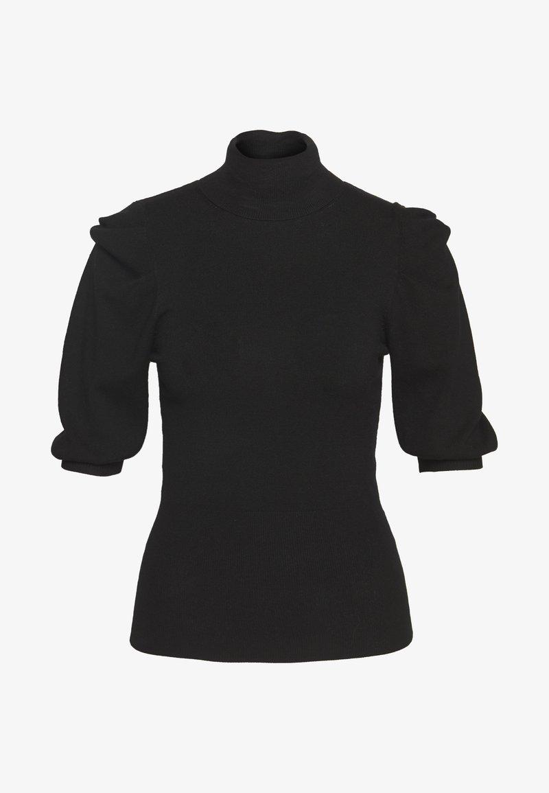 Liu Jo Jeans - MAGLIA CHIUSA DOLCEVITA - T-shirts med print - black