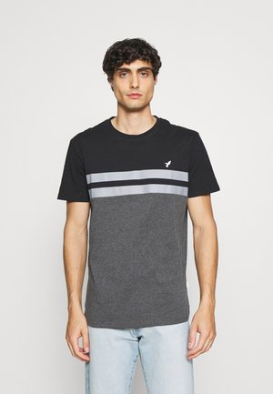 T-shirt med print - black/grey