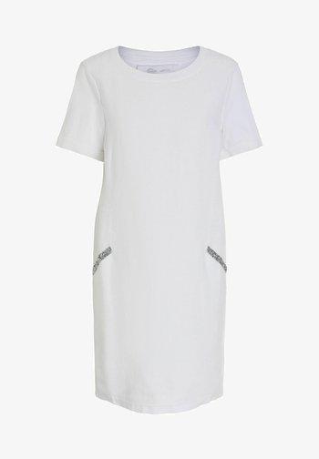 Jersey dress - optic white