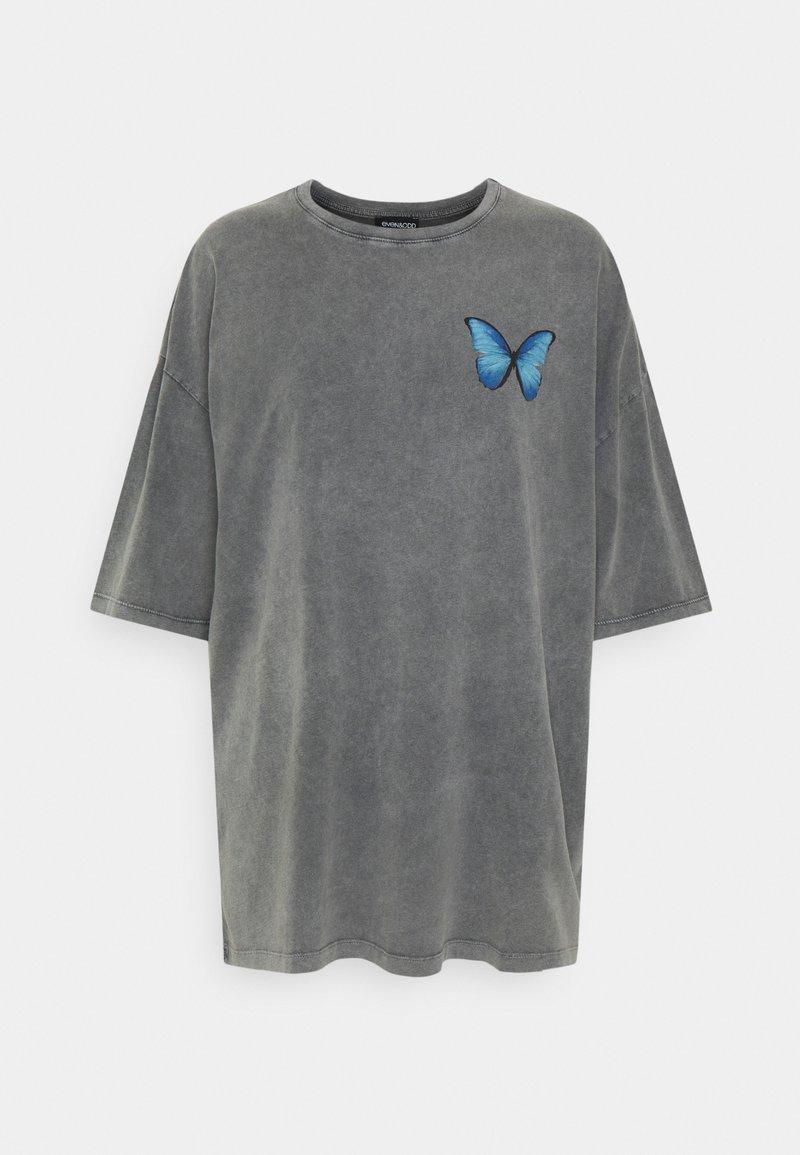 Even&Odd - T-shirt z nadrukiem - black
