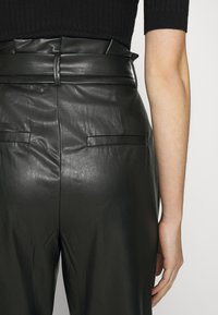 Vero Moda - VMEVA PAPERBAG ANKLE PANTS - Trousers - black - 5