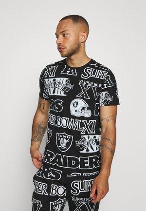 NFL TEE OAKLAND RAIDERS - Klubové oblečení - black