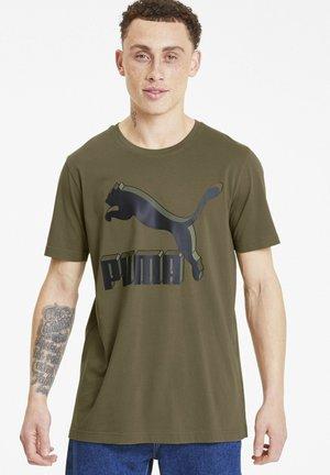 CLASSICS - Print T-shirt - burnt olive