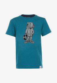 Band of Rascals - DJ - Print T-shirt - petrol - 0