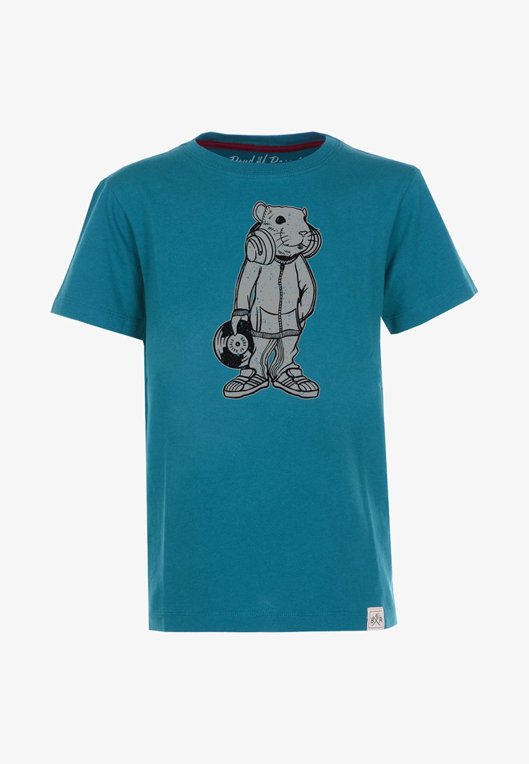 Band of Rascals - DJ - Print T-shirt - petrol