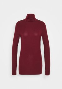 Vero Moda Tall - VMAVA LULU ROLLNECK - Long sleeved top - cabernet - 0