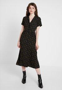 Envii - ENNAPLES DRESS - Shirt dress - black/orange - 0