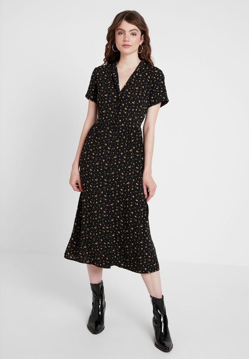 Envii - ENNAPLES DRESS - Shirt dress - black/orange
