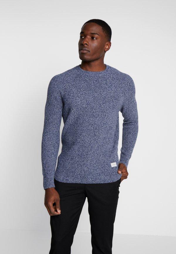 Pier One Sweter - mottled blue/niebieski melanż Odzież Męska RCYW