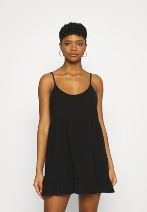 LUCY STRAPPY TIERD - Day dress - black