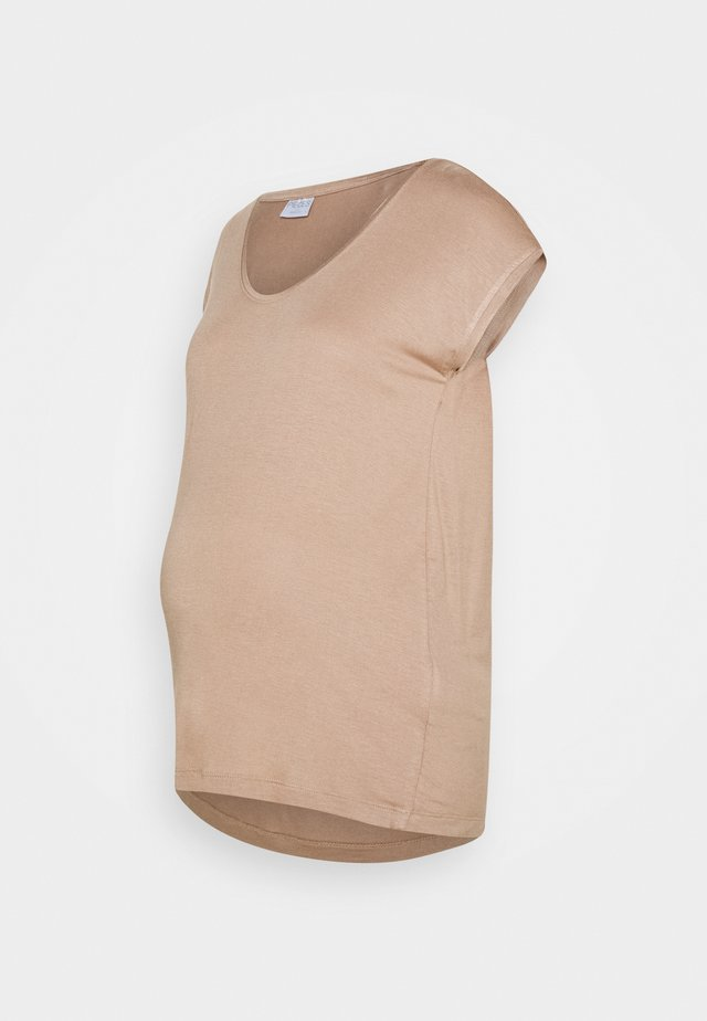 PCMBILLO TEE SOLID - T-shirt basic - natural
