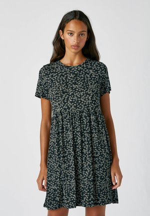 Day dress - mottled black