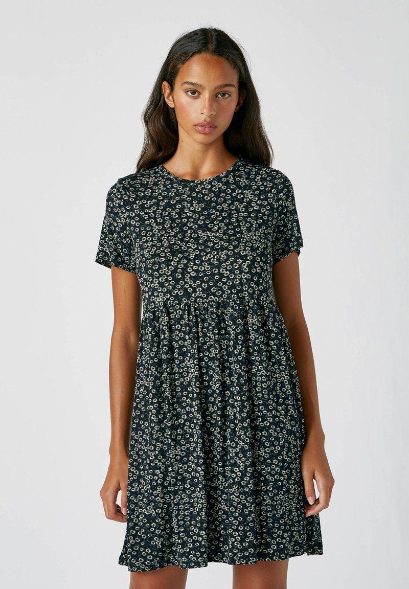 PULL&BEAR - Day dress - mottled black
