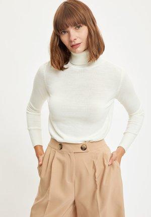 Sweter - ecru
