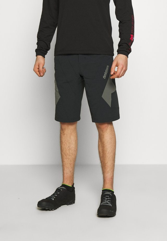 TAURUZ EVO SHORT MENS - Urheilushortsit - pirate black/gun metal
