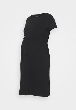 DRESS ORGANIC - Jersey dress - black