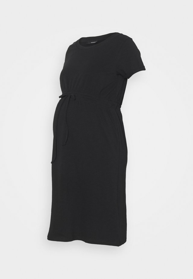 DRESS ORGANIC - Jerseyklänning - black