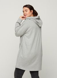 Zizzi - Zip-up hoodie - light grey - 2