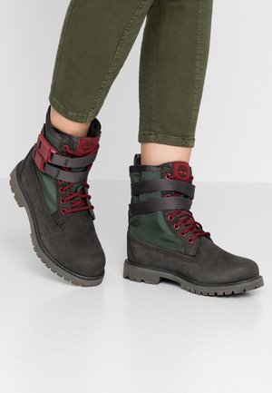 AUTHENTICS BUCKL - Schnürstiefelette - dark green