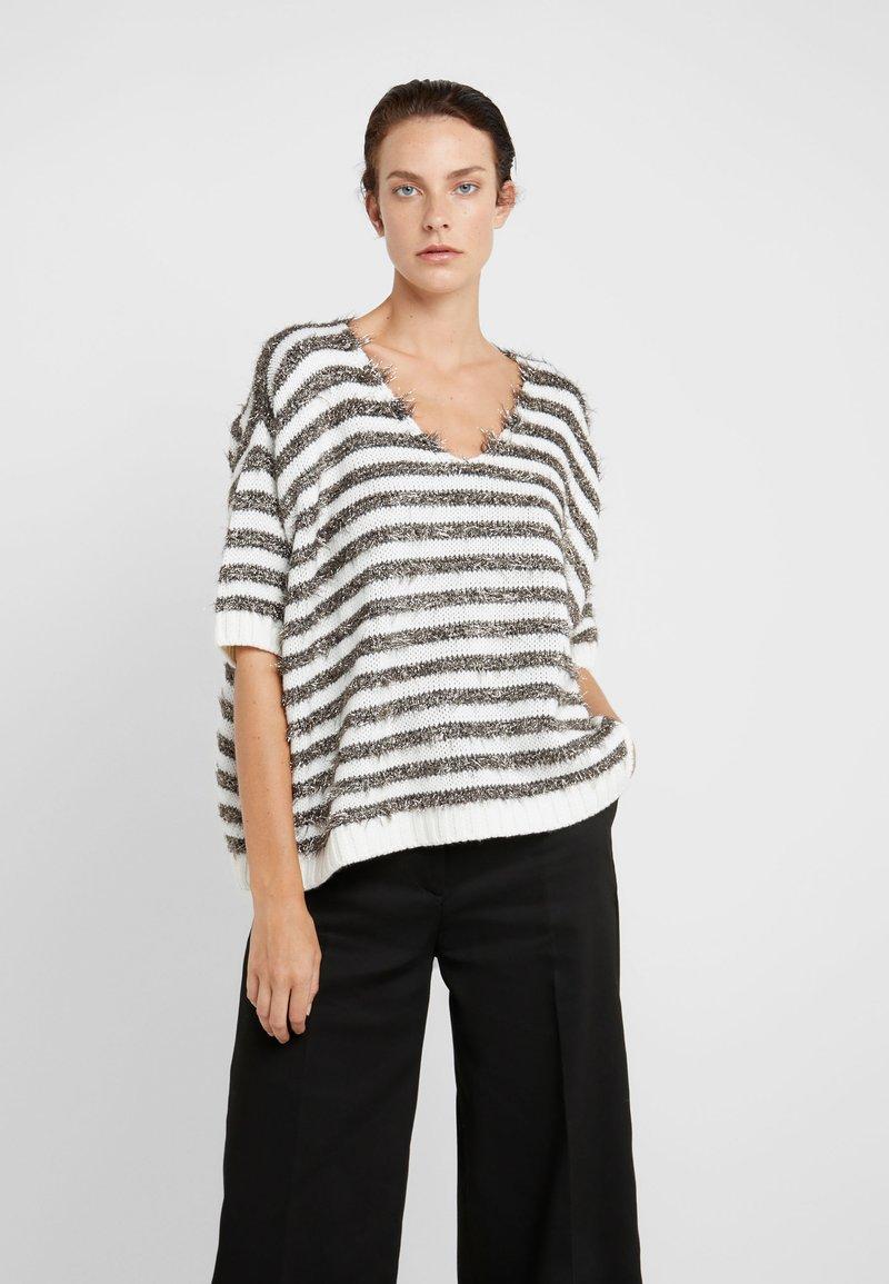 MAX&Co. - PIUMINO - Strickpullover - white pattern