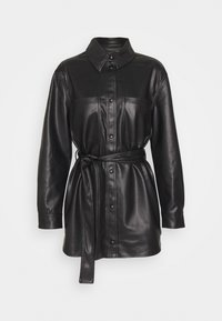 VMBUTTERDEBBIE  - Faux leather jacket - black