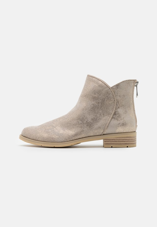 Classic ankle boots - dune metallic