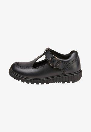 PATENT - Ankle strap ballet pumps - black