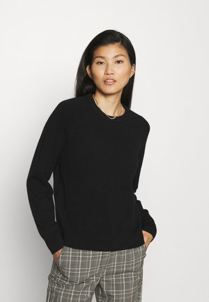 CREW NECK WITH RAGLAN SLEEVE - Pullover - black