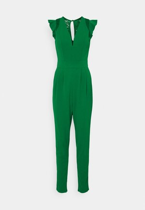 FRILL SLEEVE V NECK - Jumpsuit - leaf green