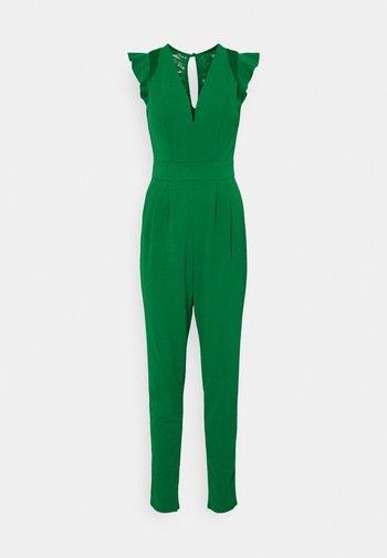 FRILL SLEEVE V NECK - Overall / Jumpsuit - leaf green