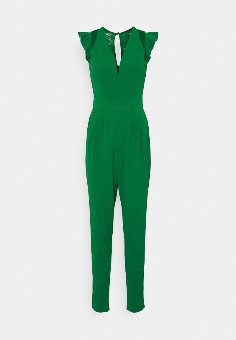 WAL G TALL - FRILL SLEEVE V NECK - Jumpsuit - leaf green
