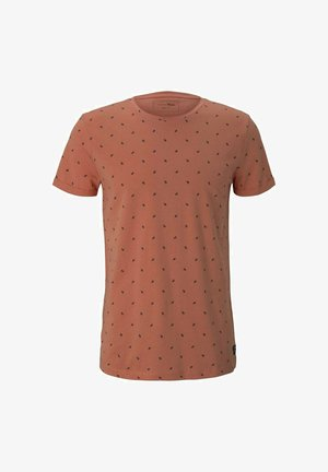 T-shirt med print - orange mini palm leaf print