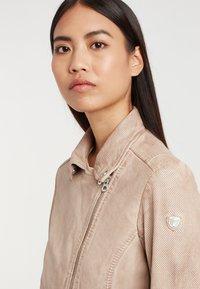 Gipsy - Leather jacket - ivo:ivory - 3