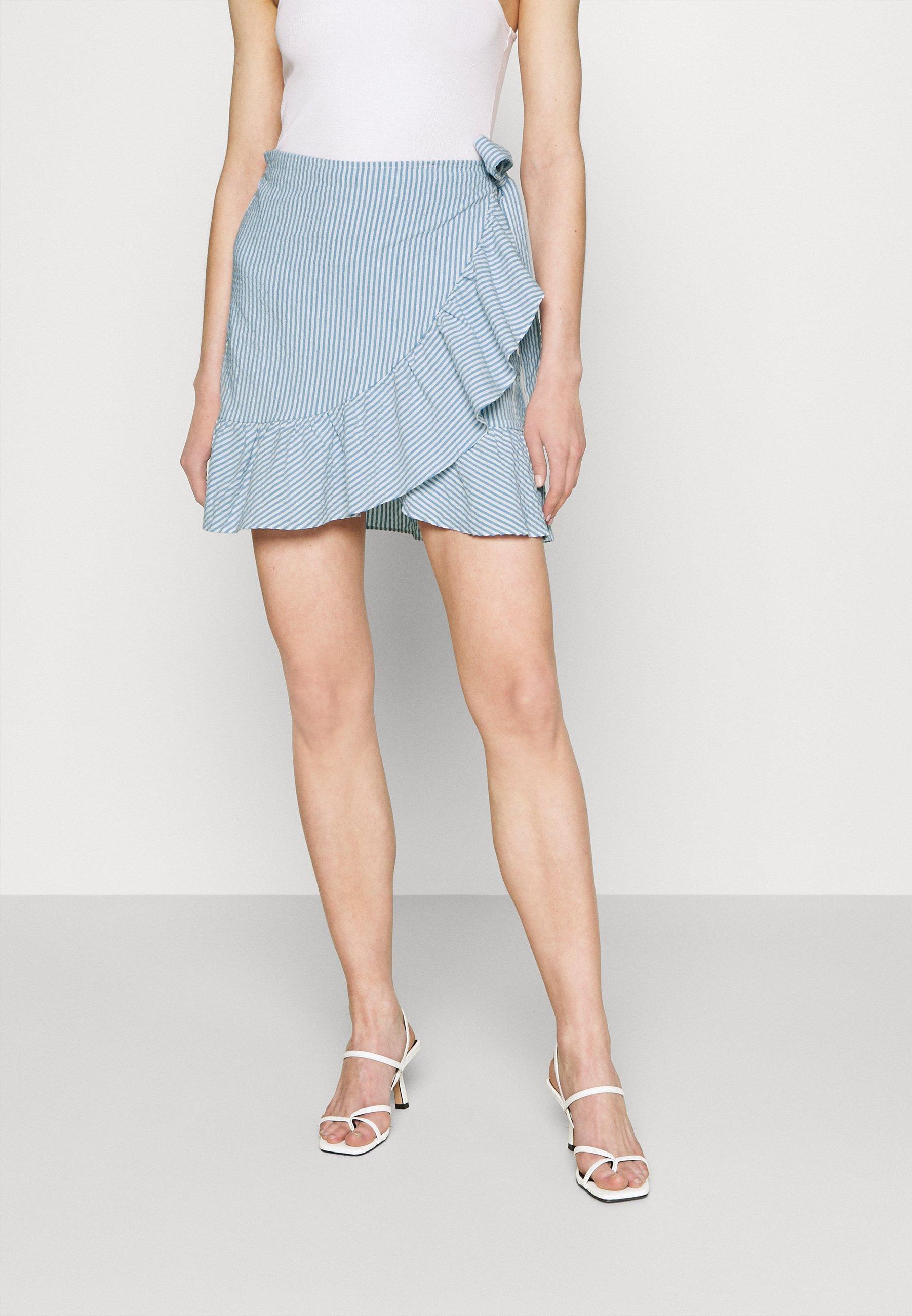 Women ONLCARLY BETTI LIFE WRAP STRIP SKIRT - Wrap skirt