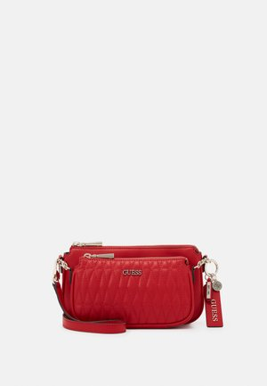 ARIE DOUBLE POUCH CROSSBODY - Umhängetasche - red