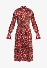 Koktejlové šaty/ šaty na párty - red flower