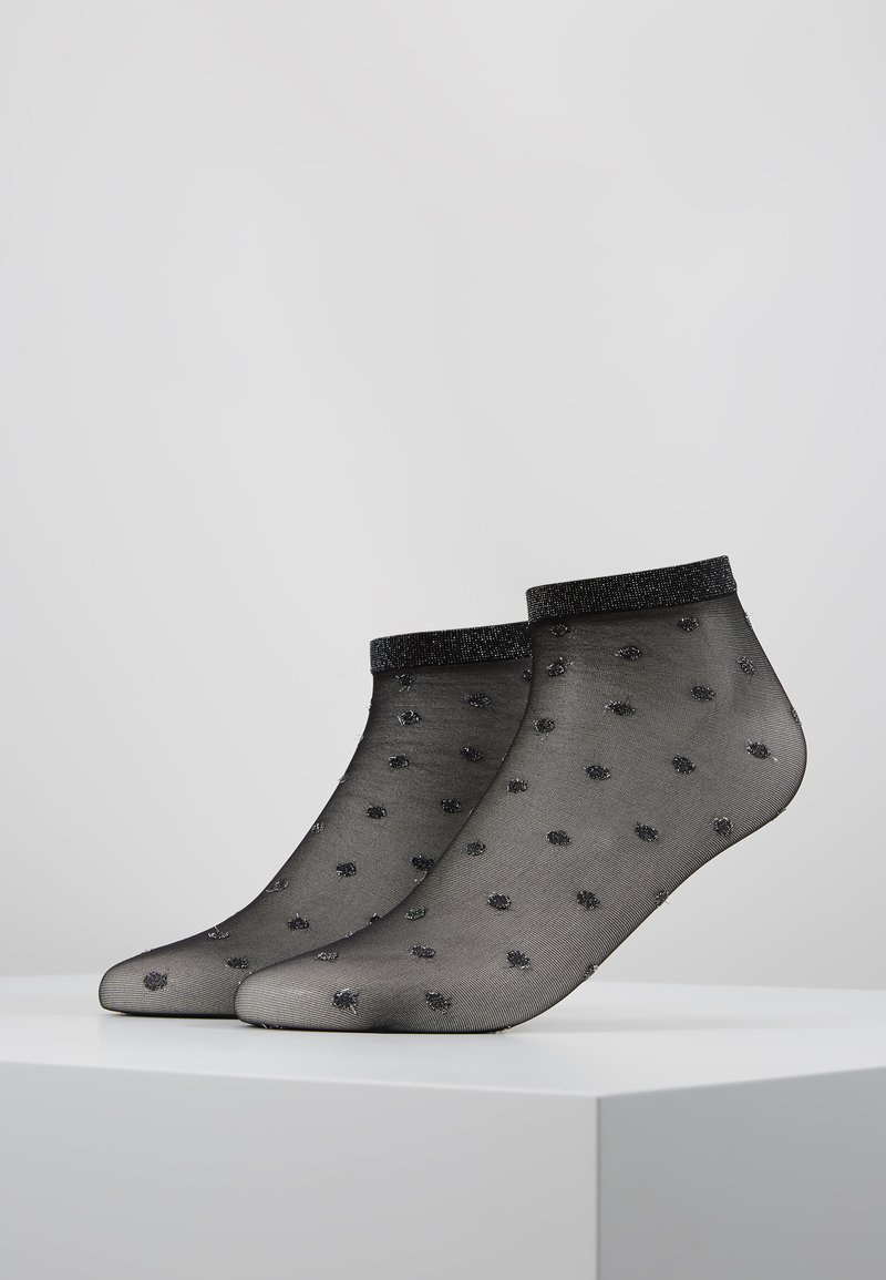 Pretty Polly - SPOT ANKLET - Socks - black/silver
