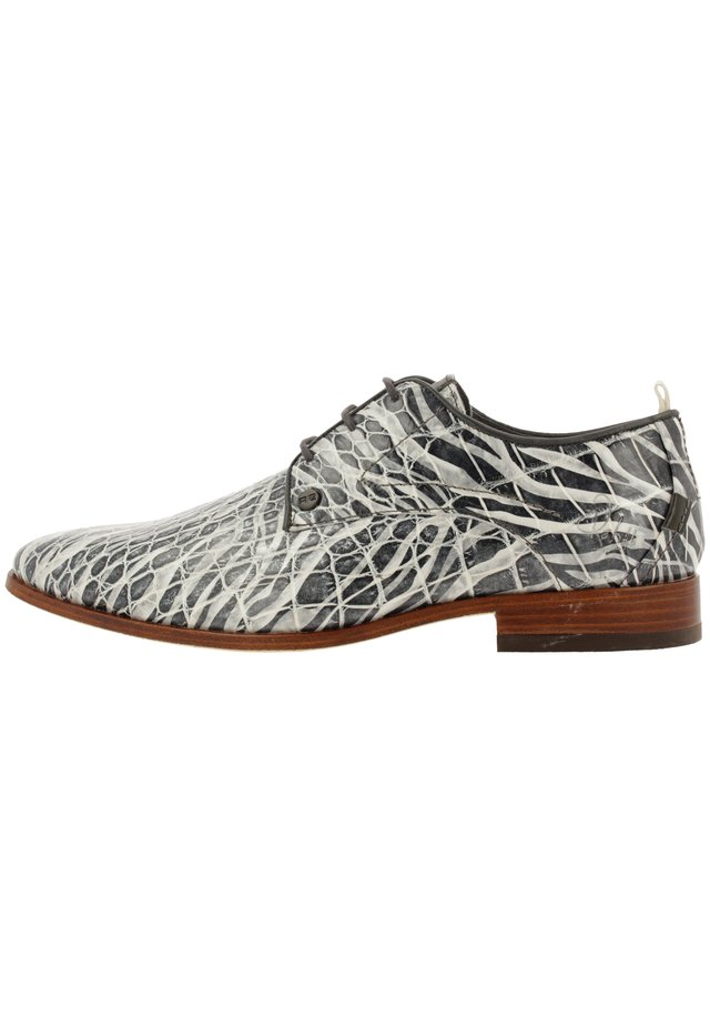 GREG CROCO ZEBRA  - Lace-ups - grey