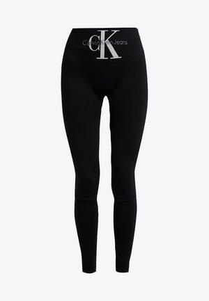 LOGO HIGH WAIST - Pyjama bottoms - black