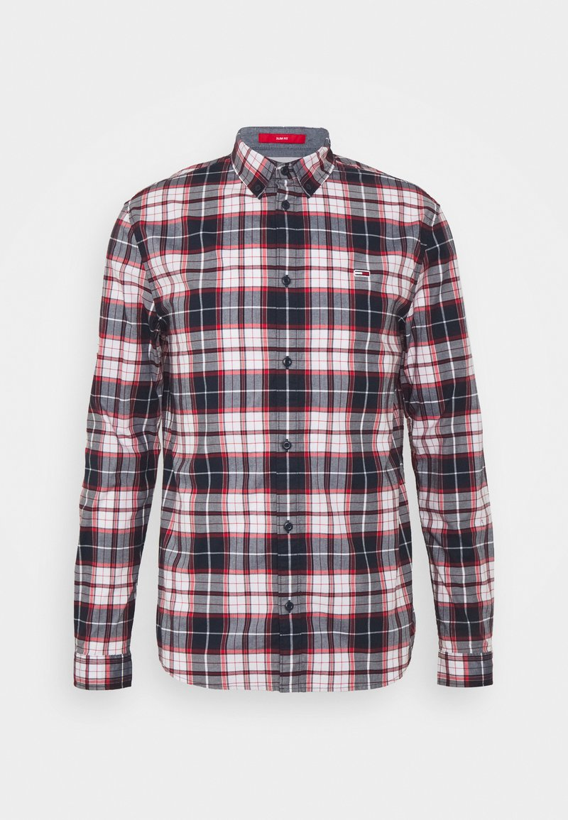 Tommy Jeans - STRETCH CHECK POPLIN  - Skjorta - red/white/dark blue