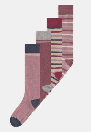 ONLINE CHILDREN STRIPES KNEEHIGHS 4 PACK - Knee high socks - nature melange