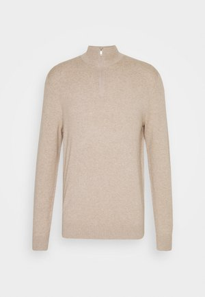 CORE HALF ZIP - Jumper - ecru