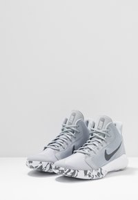 Nike Performance - PRECISION III - Basketball shoes - wolf grey/dark grey/white - 2