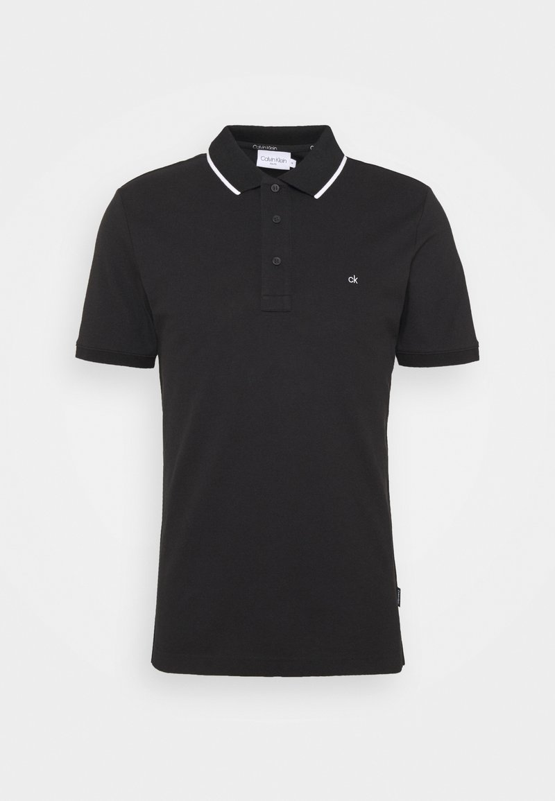 Calvin Klein - STRETCH TIPPING  - Polo shirt - black