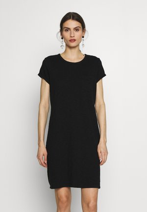 TEE DRESS - Jersey dress - true black