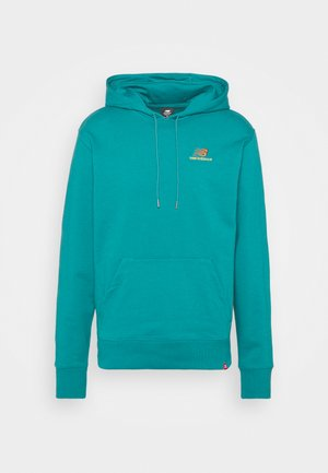 ESSENTIALS EMBROIDERED HOODIE - Sweater - team teal