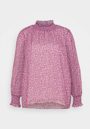 SHIRLEY HIGH NECK BLOUSE - Blouse - ruby winter speckle