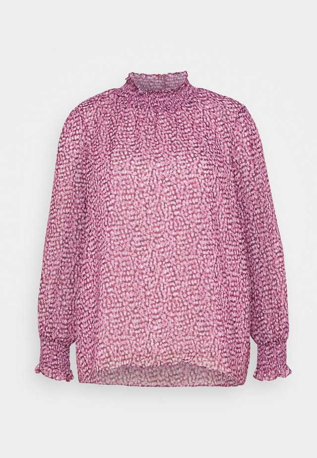 SHIRLEY HIGH NECK BLOUSE - Blus - ruby winter speckle